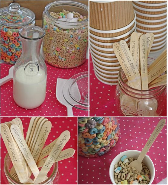 birthday breakfast party for a kid - I wouldn't use all the ideas but some would definitely be cute for a winter party with friends