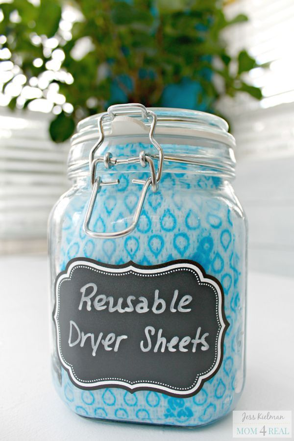 I'm so excited to share my DIY Reusable Dryer Sheets recipe with you today...you are going to love them!
