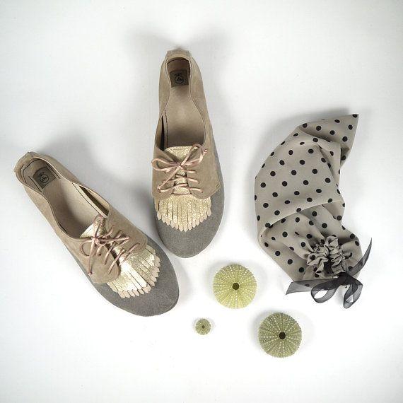 Gefranst Stück Pastell Schuhe handgearbeiteter von elehandmade
