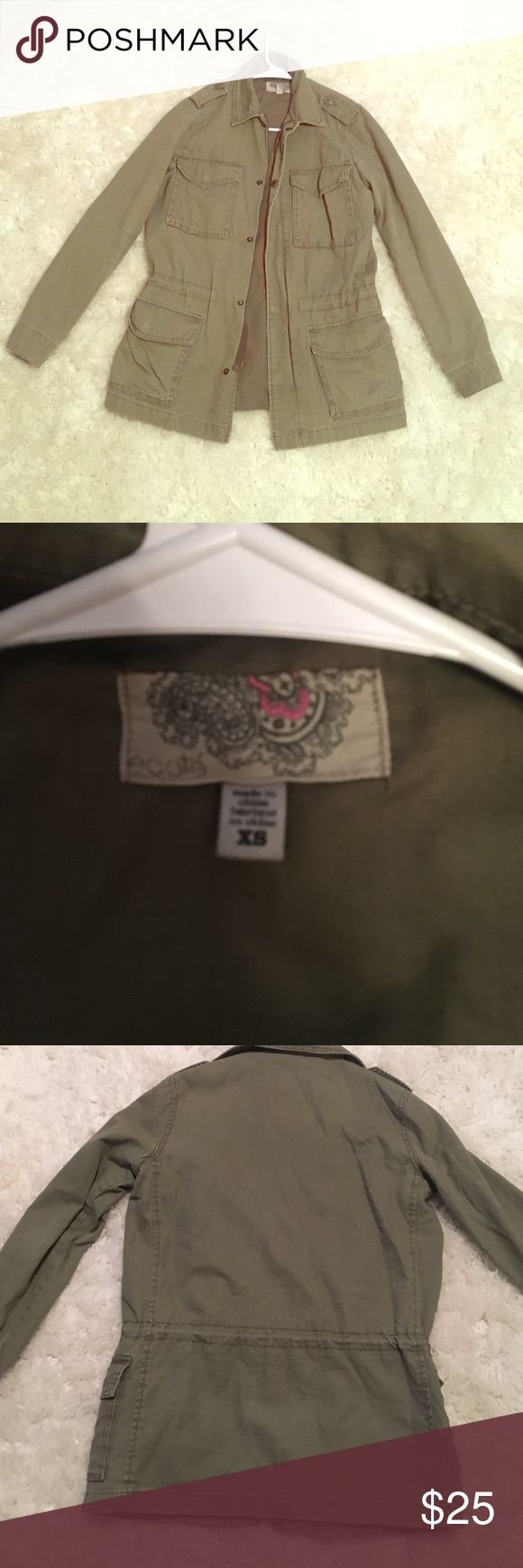 Olive/Army Green Utility Jacket (urban outfitters) Super cute and comfortable jacket from urban outfitters! In great condition! Size XS Urban Outfitters Jackets & Coats Utility Jackets