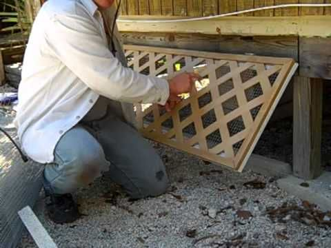 ▶ DIY Mobile home skirting design -- critter proof! - YouTube
