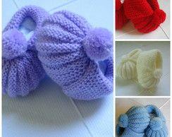 Sapatinho para bebê, em tricot