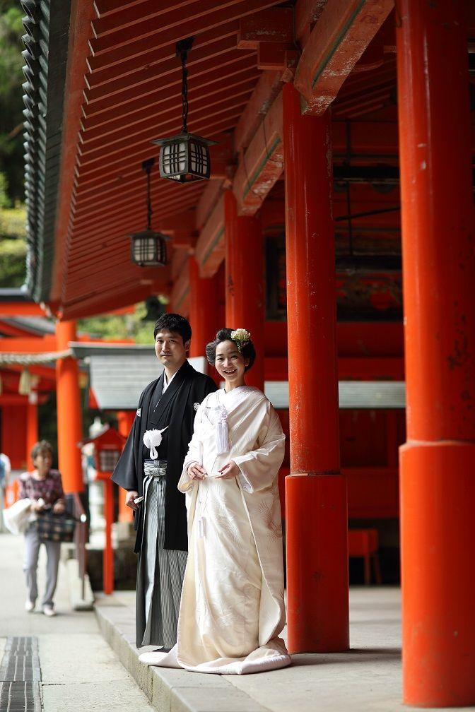 由緒ある箱根神社で挙式♪
