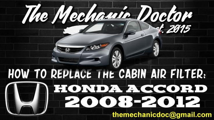 This video will show you step by step instructions on how to easily replace the cabin air filter on a Honda Accord 2008-2012.