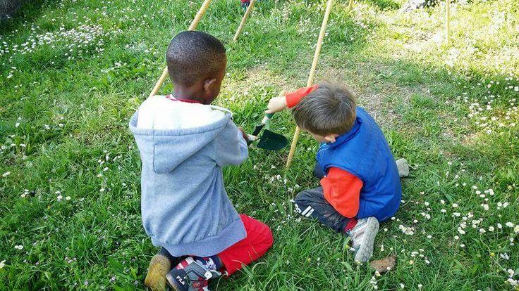 """Atelier """"La Voce degli Alberi"""". Il giardino è un luogo di tesori che gli alberi, nella loro infinita gentilezza, ci donano, lasciandoceli trovare sulla terra. L'atelier si svolge all'aperto e prevede l'utilizzo di materiali naturali, nell'ottica della Pedagogia dell'Essenziale, l'Outdoor Education e il pensiero magico dei bambini, per invitare ad un dialogo con la Natura e le sua magie. #atelier #atelierista #lavocedeglialberi #fatabutega #ravenna #centrolalucertola"""