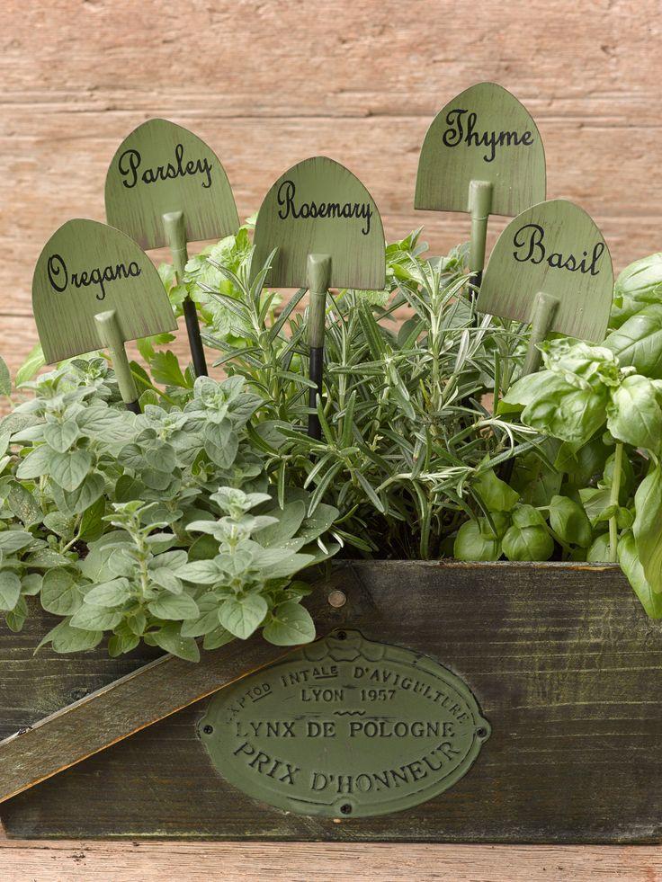 such a cute idea - AmberMarie Samson  Herb Garden Markers - decorative | Gardener's Supply