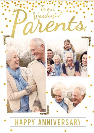Wonderful Parents Happy Anniversary Card