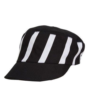 Black & White Stripe Cadet Cap by Magid #zulily #zulilyfinds