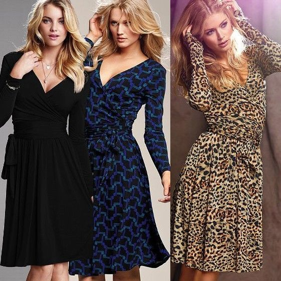 VICTORIA'S New Sexy Full Skirt Flare Dresses Animal Print Geometric S,M,L,XL--------Now on Sale for US$ 27.99!! ----------Please Click The Photo to see details!!
