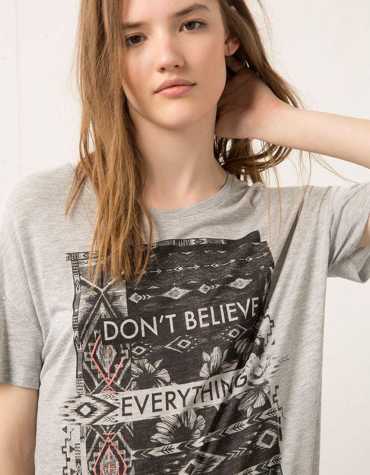 Shirt Bershka met etnische print - T- Shirts - Bershka Netherlands