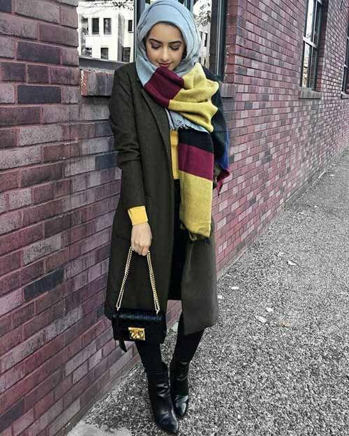 Mixing and matching beautiful winter hijab – Just Trendy Girls