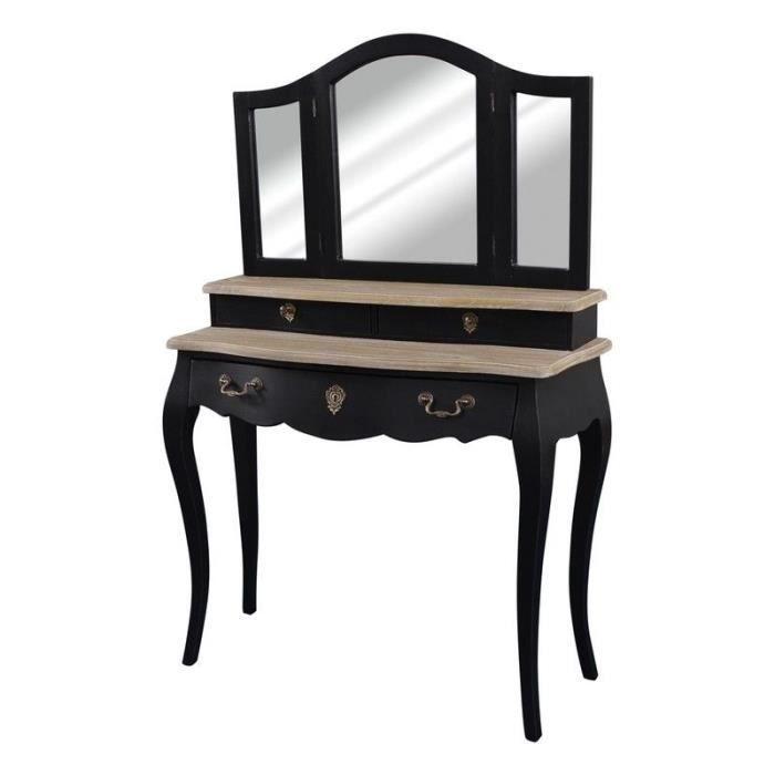 Coiffeuse Baroque Noir