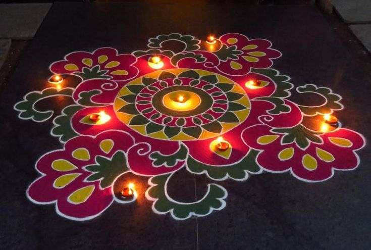 Kolam Designs for Diwali
