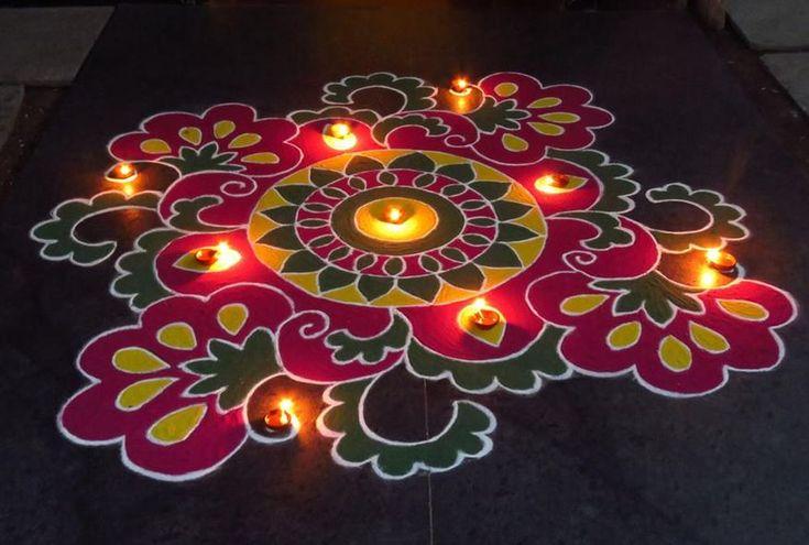 Kolam Designs for Diwali