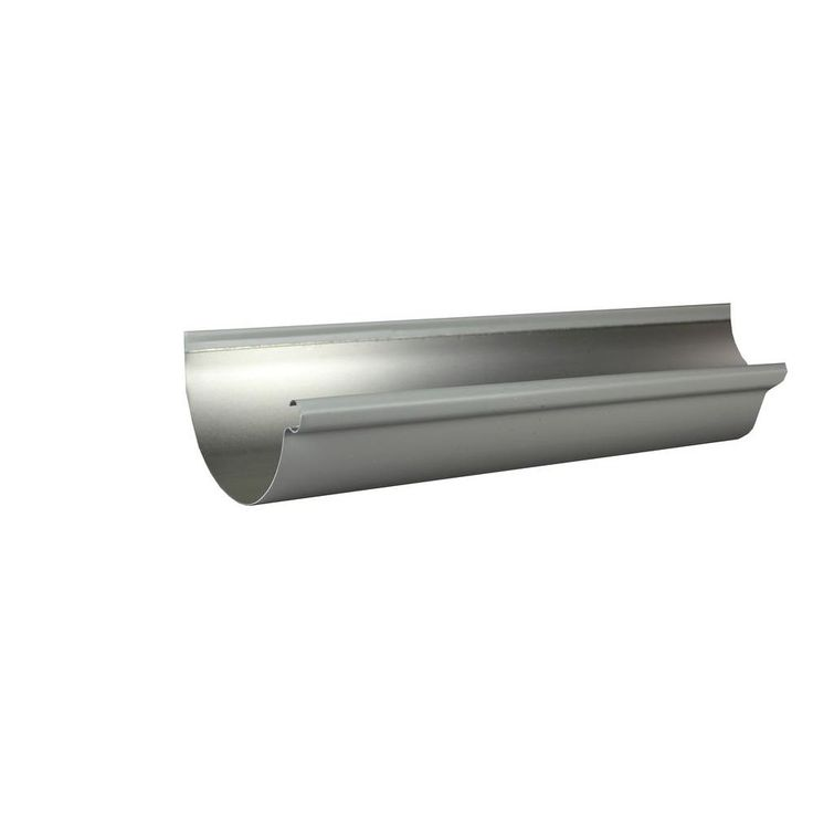 Best 6 In X 10 Ft Half Round Dove Gray Aluminum Gutter 400 x 300