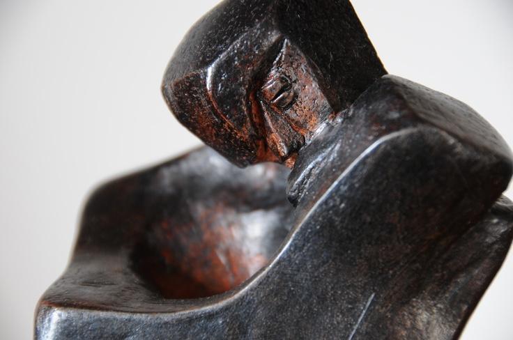 """""""GaudiKiss""""  Fired Clay  artist: Majd"""