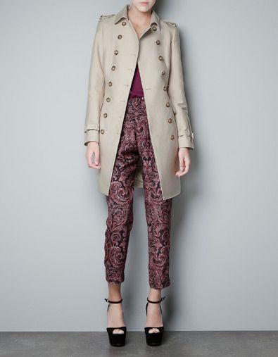 TWO-LAYER TRENCH COAT - Coats - Woman - ZARA