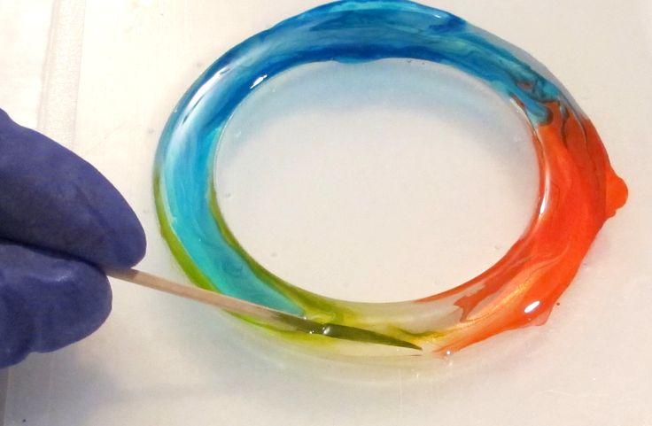 swirl color in resin