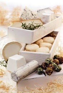 Fromages de chèvre . Goat cheese ~ The French introduced me to goat cheese and I will never go back to cow.  Sigh...