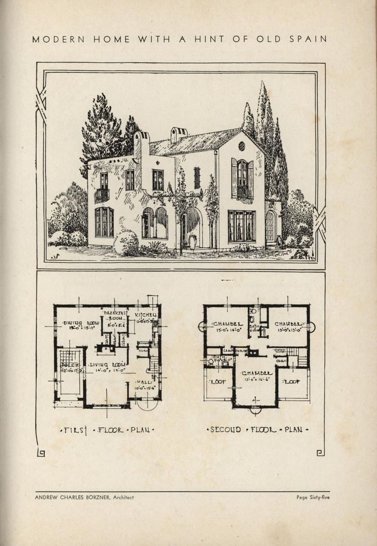 477 best images about old house plans on pinterest for Spanish bungalow house plans