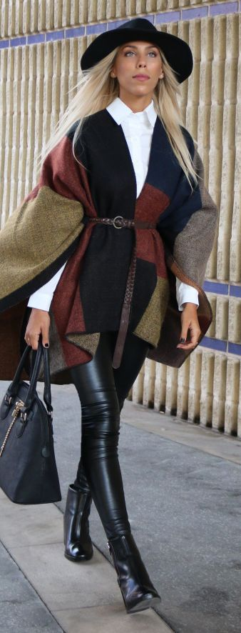 This layered look is perfect for any day out this winter and the belt decreases bulk and shows off your waist!
