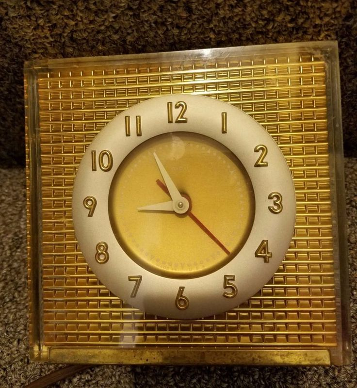 MidCentury Art Deco A.P.I. Gold Electric Clock Lucite clean vintage conditio | Collectibles, Clocks, Vintage (1930-69) | eBay!