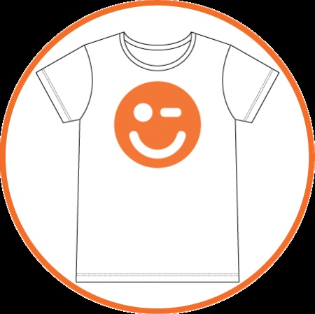 Oranje smiley!