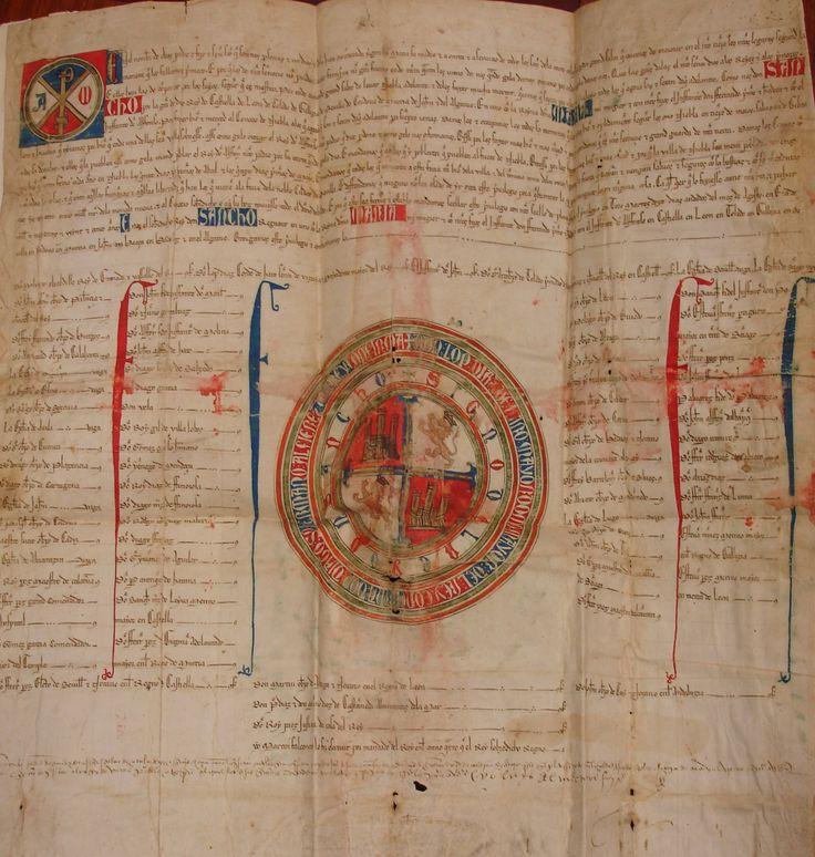 Sancho IV, Privilegio Rodado, 1287. Manuscrito. Rarísimo.