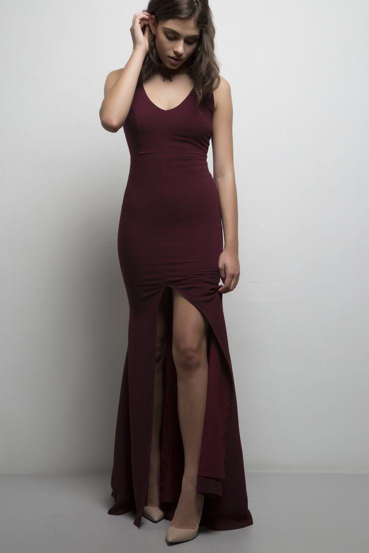 Carrie Gown. Available in red, blush, cream, lunar rock, black and royal blue.