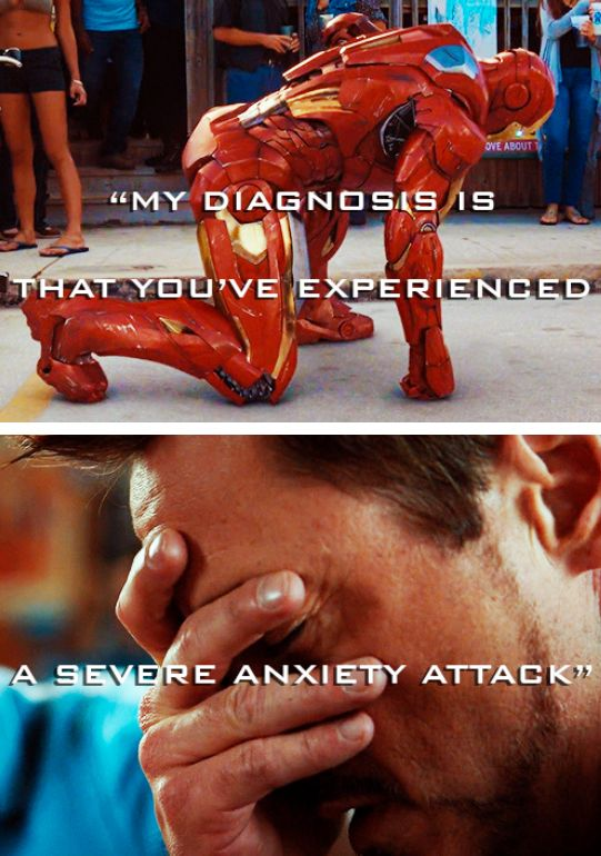 My heart breaks for him, because anxiety/panic attacks are not fun...