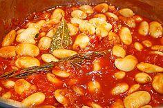 Gigandes-große weiße Bohnen in Tomatensauce (Rezept mit Bild)   Chefkoch.de