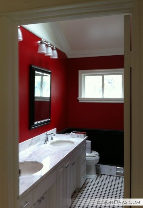 15 best Bathroom-Deco cranberry images on Pinterest Red - red bathroom ideas