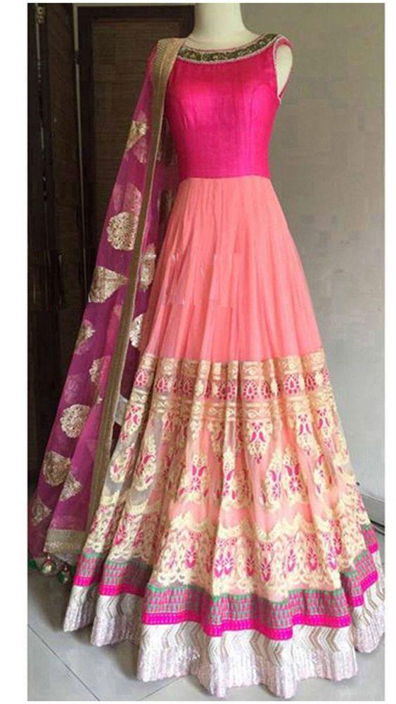 ANARKALI SALWAR SUIT INDIAN PAKISTANI DESIGNER BOLLYWOOD WEAR ETHNIC DRESS in Clothing, Shoes & Accessories, Cultural & Ethnic Clothing, India & Pakistan | eBay