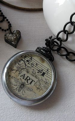 Old pocket watch turned into pendant