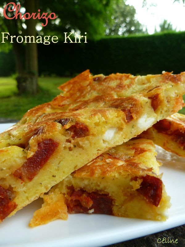 Gâteau Salé Chorizo et Kiri