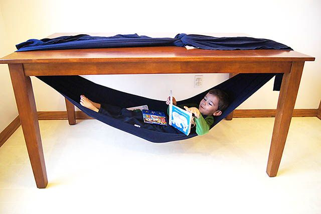 hammock made from Moby Wrap from All for the Boys blog