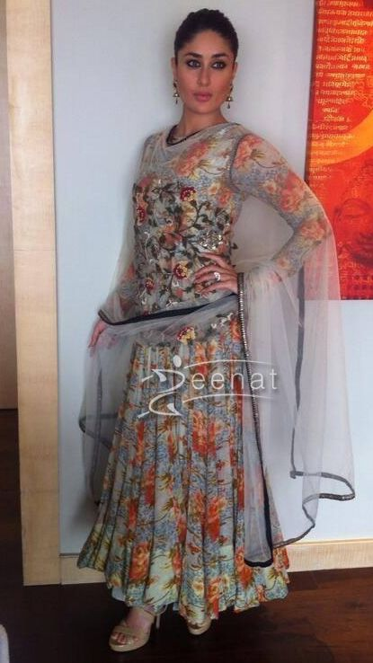 Kareena Kapoor In Floral Anarkali Churidar