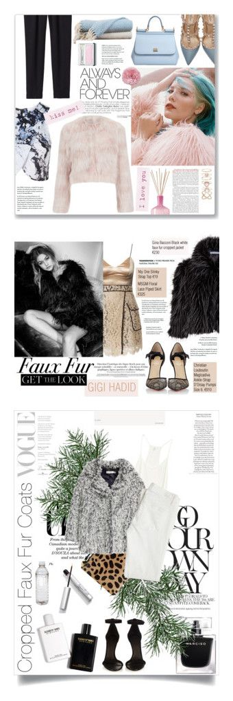 """""""Winners for Cropped Faux Fur Coats"""" by polyvore ❤ liked on Polyvore featuring RED Valentino, Rebecca Taylor, Topshop, Valentino, Dolce&Gabbana, LAFCO, Amrapur, Accessorize, Clinique and women's clothing"""