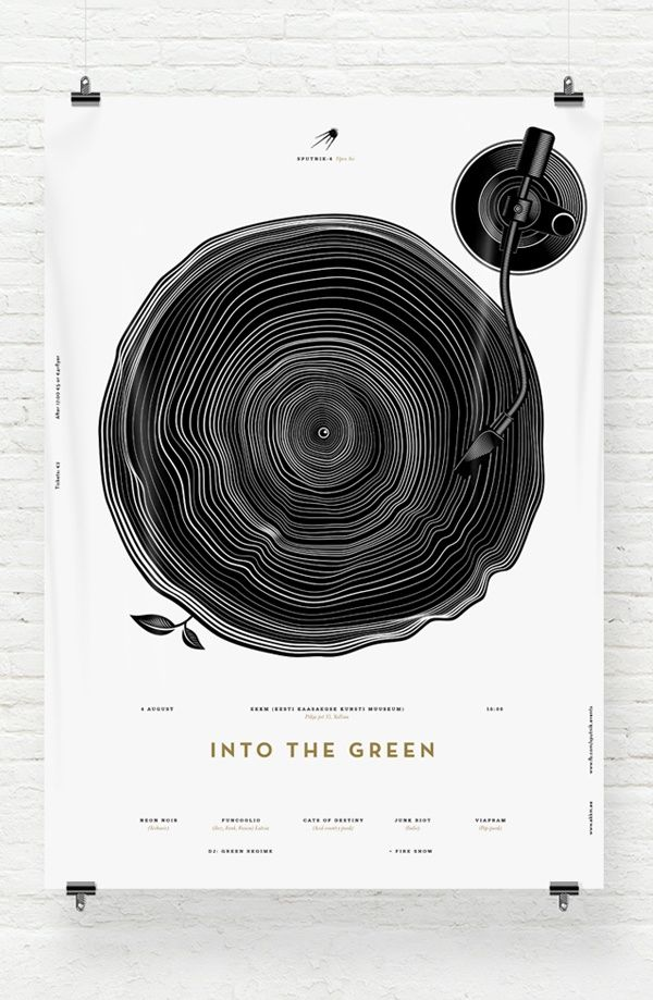 26 Beautifully Designed Posters | From up North. Added by Daniel Nelson on 2013-05-31 Inspiration, Print Design. Have a Concept, Be Universal,Show one thing first.