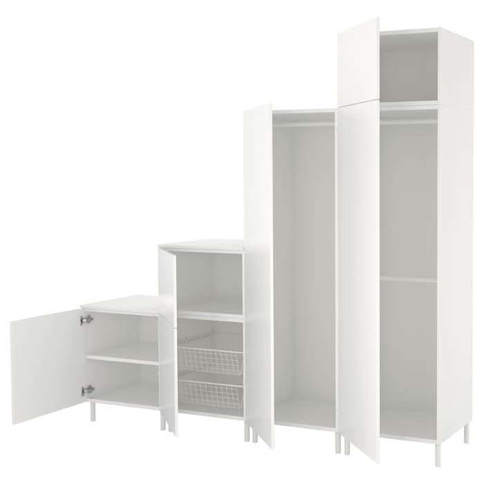 Platsa Armoire Penderie Blanc Fonnes Blanc 240x57x231 Cm Armoire Penderie Dressing Sous Pente Ikea Dressing Sous Escalier