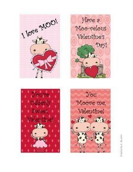 Cow Valentines