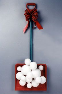 Snow Covered Shovel ..An alternative to a traditional wreath| FaveCrafts.com