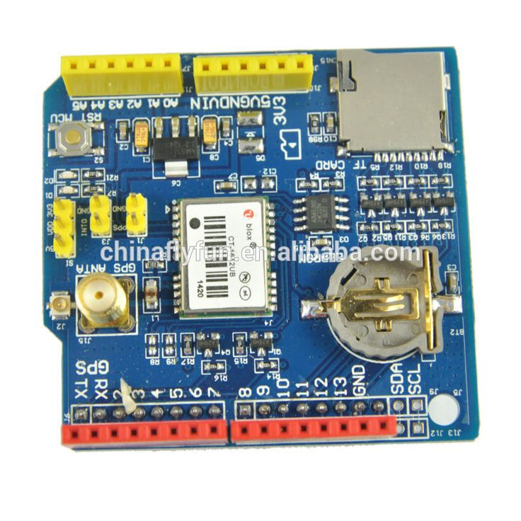 GPS Shield Ublox NEO Module Sensor for Arduino 3.3V 5V with SD Card Slot