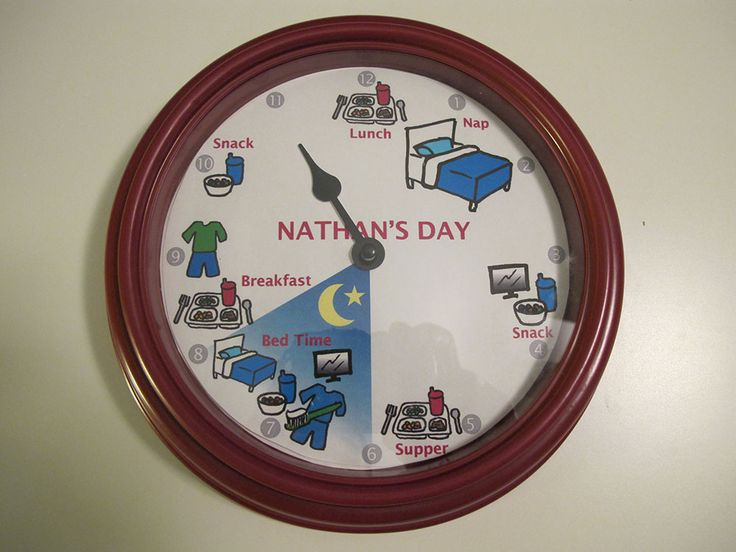 Make A Clock With The Time And Daily Schedule For Kids