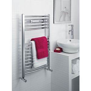 Richmond Curved Heated Towel Rail - Chrome 764 x 500mm