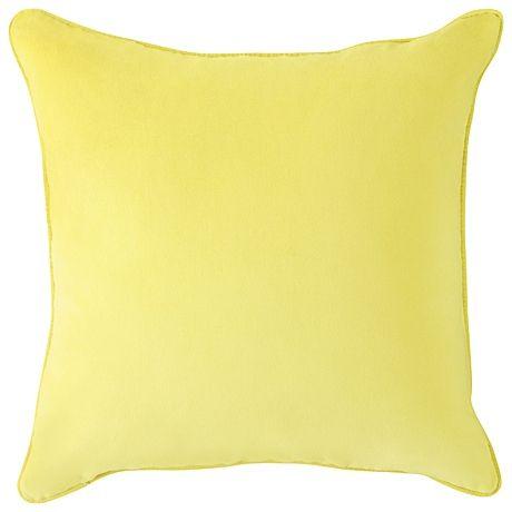 Freedom Furniture Lemon velvet cushion 50x50cm