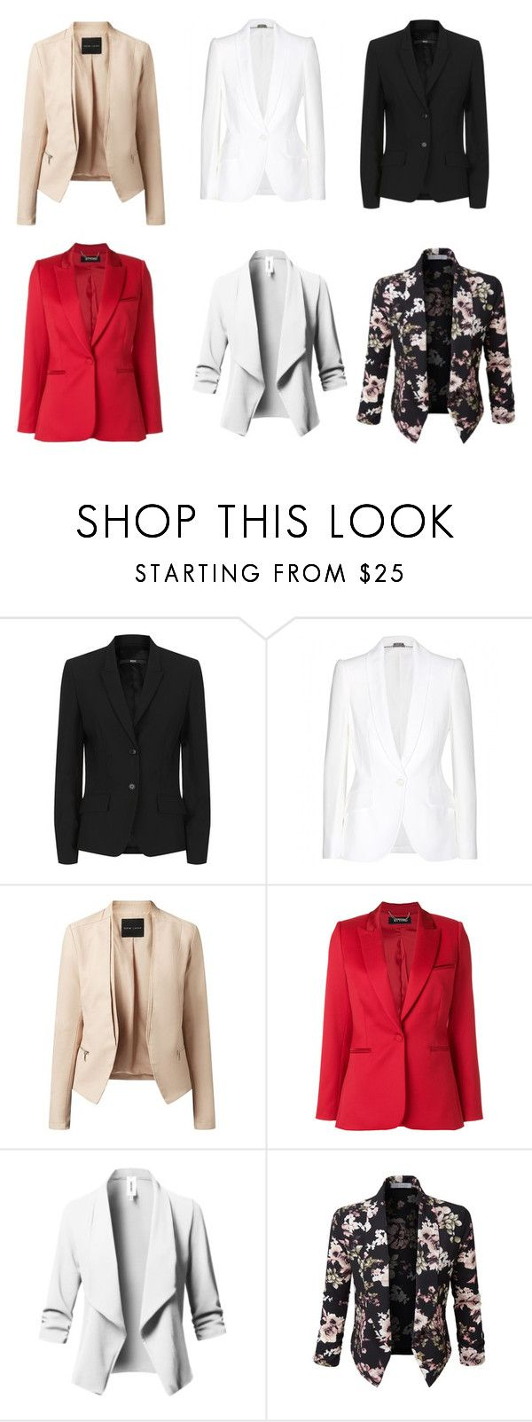 """mujer BLAZER BASICOS"" by natyapshopper on Polyvore featuring moda, BOSS Hugo Boss, Alexander McQueen, Styland y LE3NO"