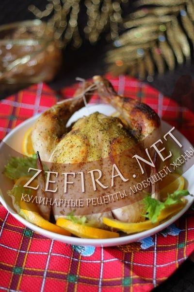 Запеченная в духовке курица с апельсинами «Новогодняя»-домашние рецепты с фото