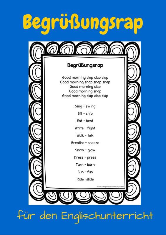 Sonniges Klassenzimmer: Begrüßungsrap für den Englischunterricht