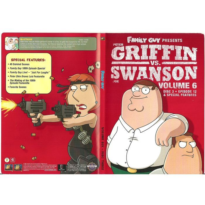 Paper Label Artwork from DVD Case Family Guy Griffin VS Griffin Volume 6 Disc 3 Listing in the Other,DVD,Movies & DVD Category on eBid Canada | 144918759 CAN$1.00 + Shipping